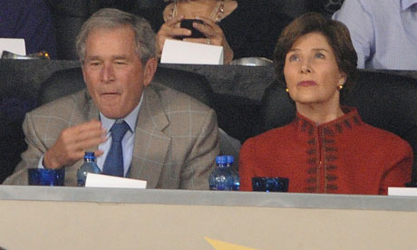 George Bush and wife Laura