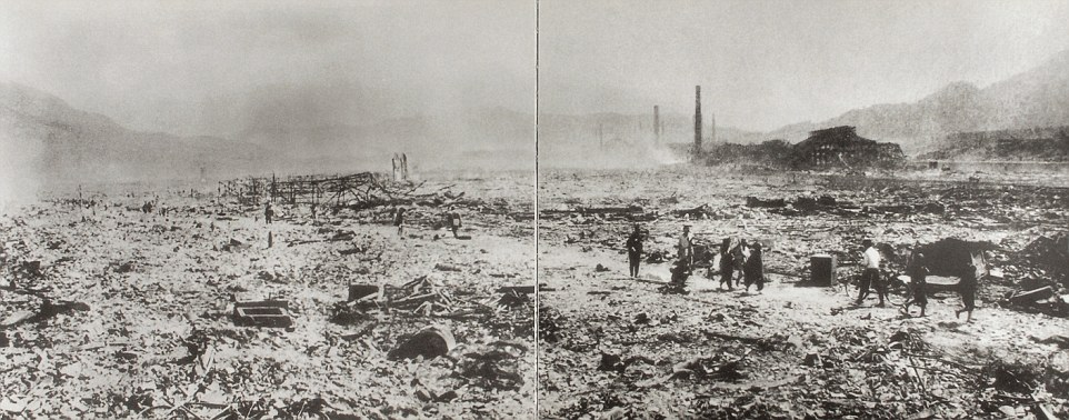 The collection of poignant images taken by Yosuke Yamahata, a Japanese military photographer, show the flattened landscape, mass death and desperate plight of survivors immediately following the nuclear blast in Nagasaki, Japan
