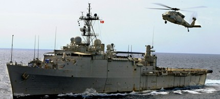 The United States amphibious assault ship USS Ponce may become a special ops 'mothership' patrolling the waters of the Middle East. (photo: US Navy)