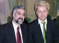 Daniel Pipes (left) shares a photo with Geert Wilders