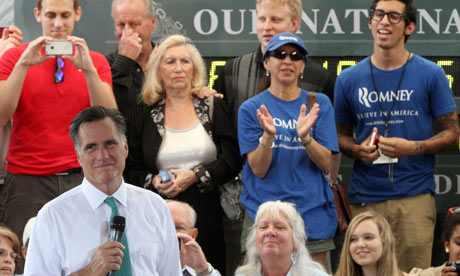 Republican presidential candidate Mitt Romney at a campaign stop in Jacksonville, Florida