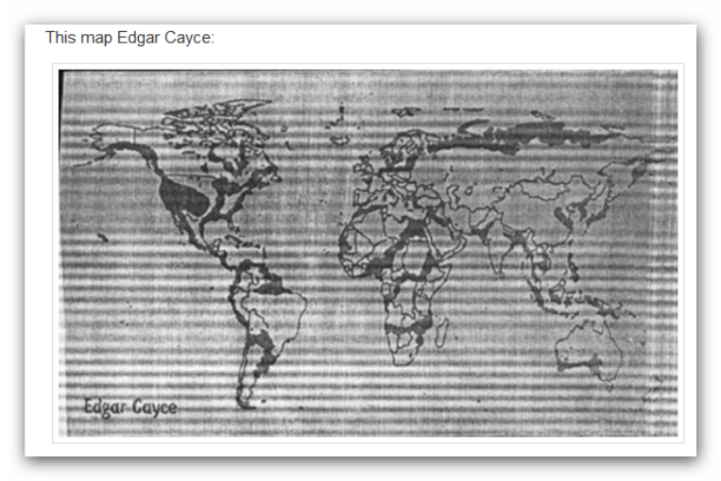 edgar cayce massive pole shift predicted and map after the earth