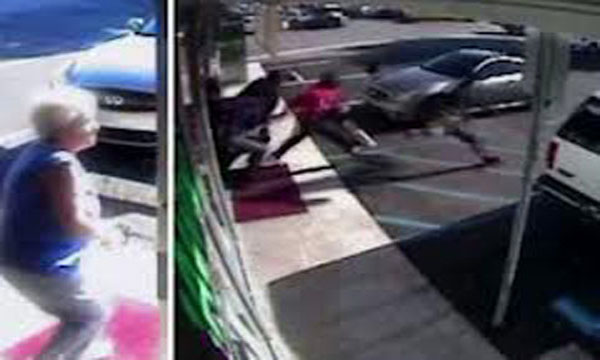 Video 65 YEAR OLD WOMEN vs. 5 THUGS