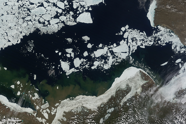 Sea Ice Retreat in the Beaufort Sea