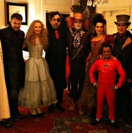 Pictures of Obama, White House Alice in Wonderland Party in 2009 With Johnny Depp