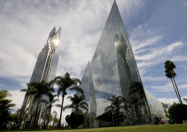 The board of directors of the bankrupt Crystal Cathedral announced November 17th that its preferred buyer for the megachurch's campus is the Roman Catholic Diocese of Orange. (AP Photo/Orange County Register, Ana Venegas, File) MAGS OUT; LOS ANGELES TIMES OUT