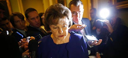Senator Dianne Feinstein. (photo: Jonathan Ernst/Reuters)