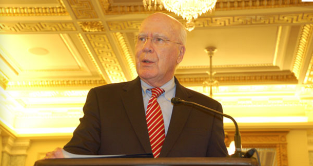 "Sen. Patrick Leahy previously said his bill boosts Americans' e-mail privacy protections by ""requiring that the government obtain a search warrant."" That's no longer the case."