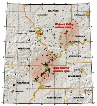 New Madrid and Wabash Valley seismic zones