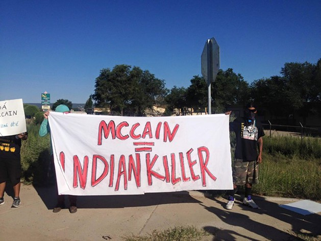 John McCain Confronted by Oak Flat Protesters and Chased Off Navajo Nation (2)
