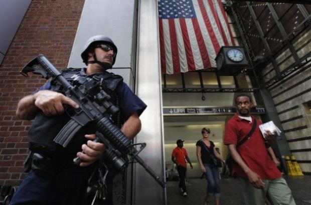 new york cop m 16 1 Local Cops Ready for War With Homeland Security Funded Military Weapons