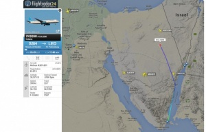 Flightradar_Egypt_KGL9268 crash site