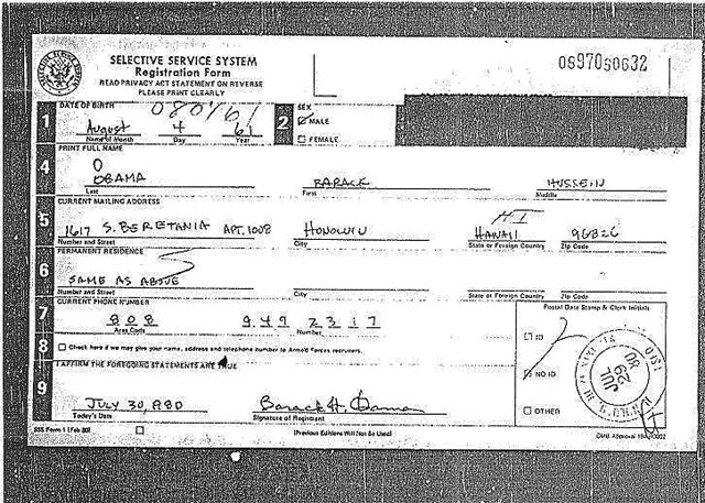 The Question Of President ObamaS Draft Card Has Evidence Been
