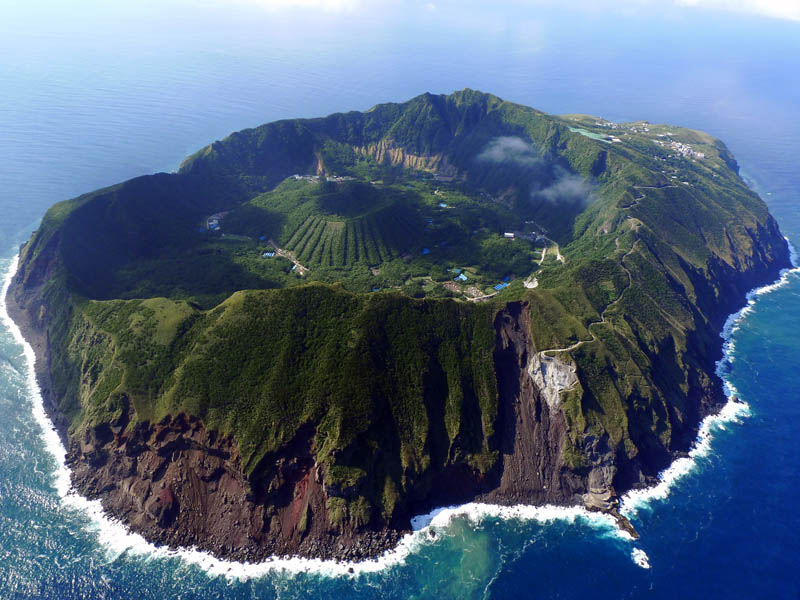 http://twistedsifter.com/2011/11/picture-of-the-day-the-inhabited-volcanic-island-of-aogashima/