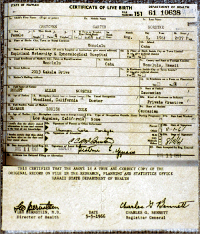 A tale of two birth certificates four winds 10 truth - General register office birth certificate ...