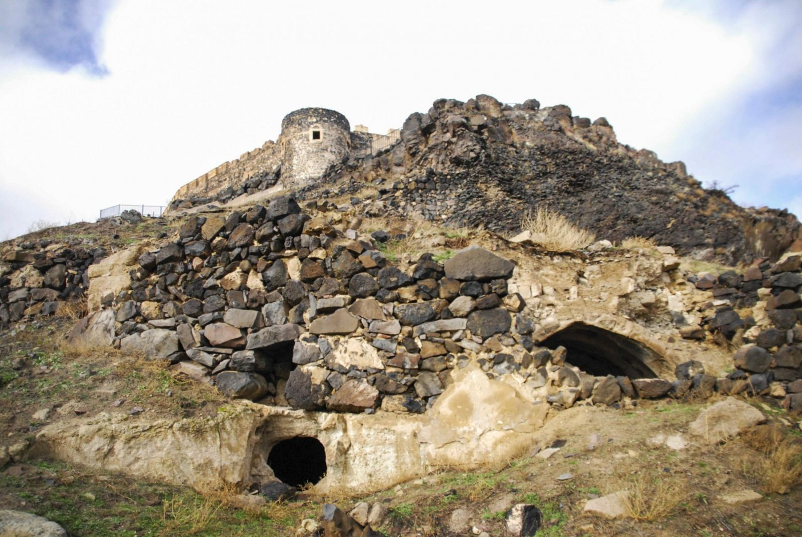 Picture of an opening to the underground city in Nevsehir