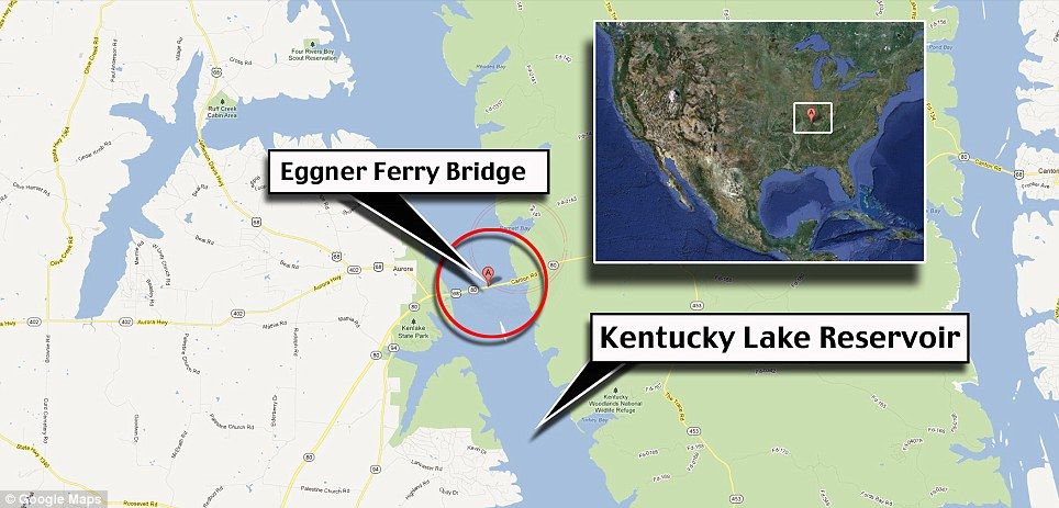 Eggner Ferry Bridge Collapse Locator